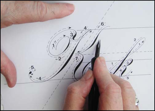 Pressure on this little nib opens to tines to produce a very wide stroke.