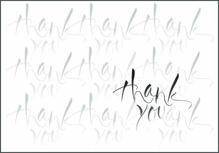 Thank you card - brush lettering