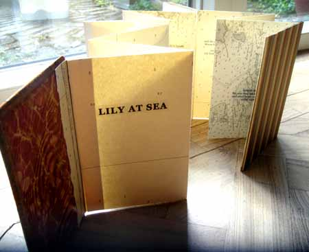 Lily at Sea - one of Lois' creations using old maps and found elements.