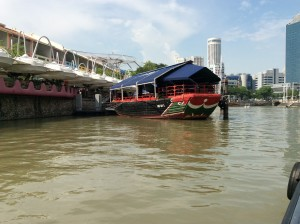 River taxi with eyes on the hull