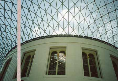 Lord Foster's fabulous glass ceiling at the British Museum