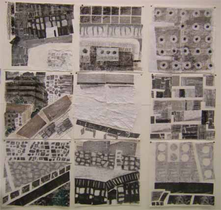 Urban - fabric collage