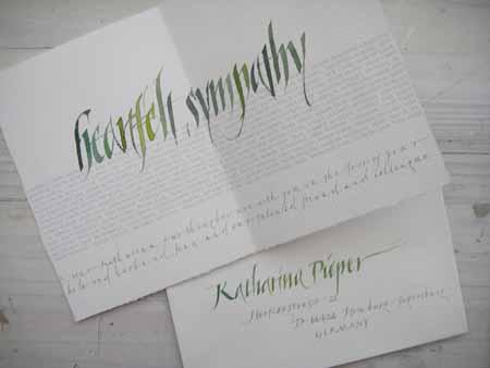sympathy card Katharina