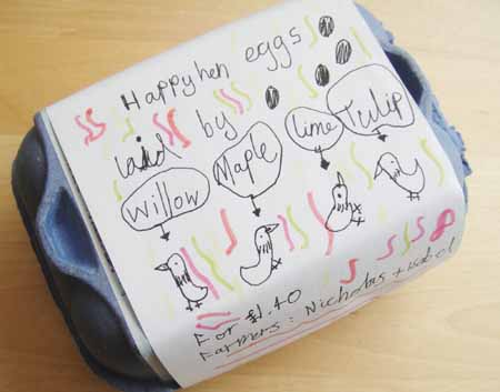 Happy Hen Eggs - designed by Isabel
