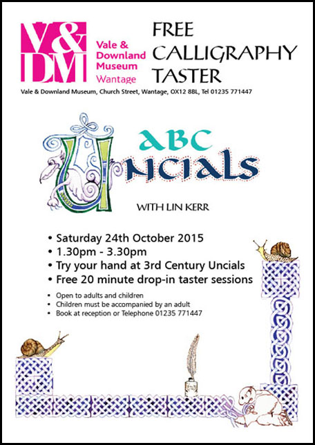 15-10-15 Calligraphy Taster poster