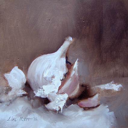 Garlic 28/01 15cm x 15cm Original Oils on Panel