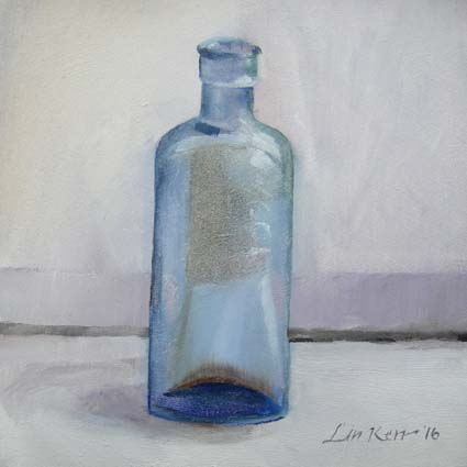 Blue Bottle 29/01 15cm x 15cm Original Oils on Panel