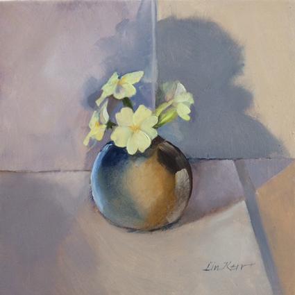 Primroses in a tiny vase 30-03