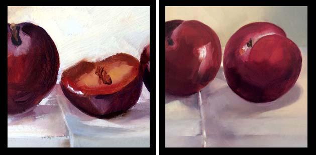 plums - details