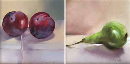 Two juicy plums (sold) & Conference Pear