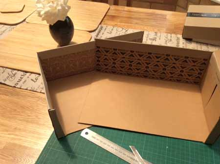 Box to cover keypad made from two shoeboxes