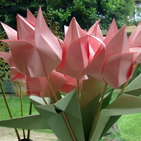 My origami tulips