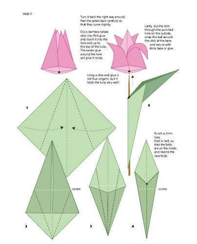 Tulip origami page 2