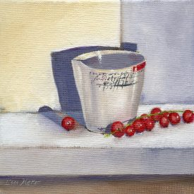 L714 Tiny porcelain jug with redcurrants