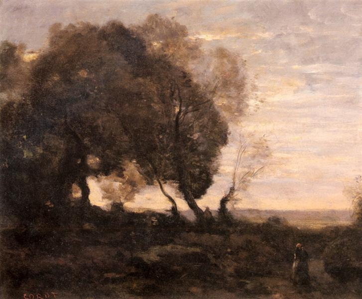 This image has an empty alt attribute; its file name is Corot-The-Twisted-Tree.jpg